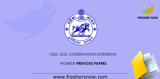 OSSC Soil Conservation Extension Worker Previous Papers