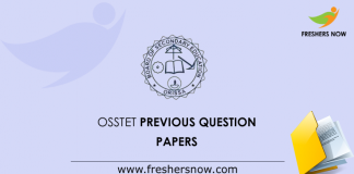 OSSTET Previous Question Papers