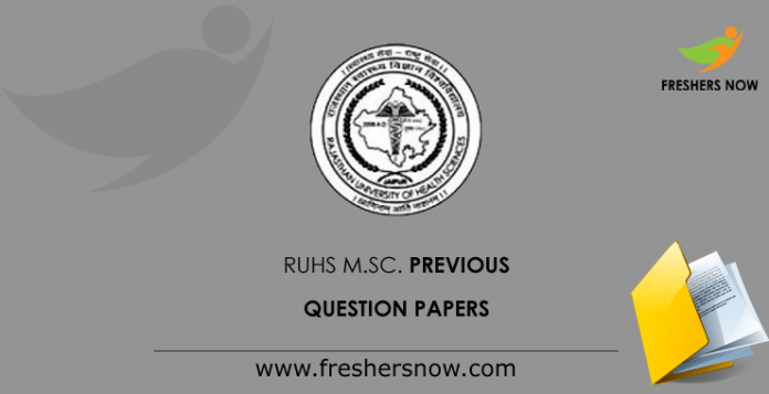 RUHS M.Sc. Previous Question Papers