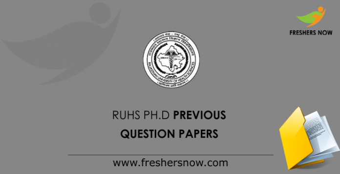 RUHS Ph.D. Previous Question Papers