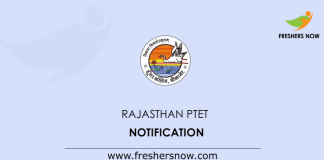 Rajasthan PTET Notification