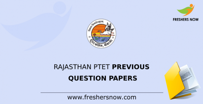 Rajasthan PTET Previous Question Papers