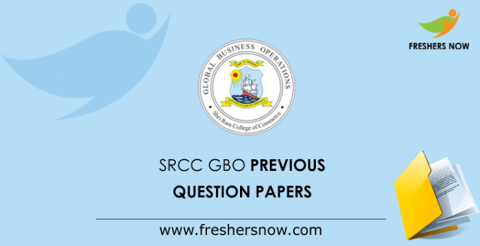 SRCC GBO Previous Question Papers
