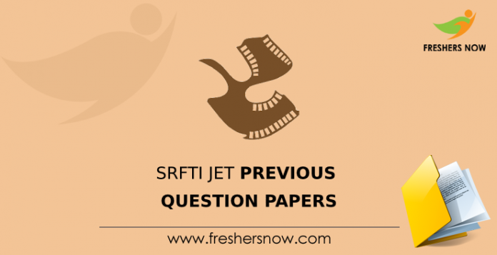 SRFTI JET Previous Question Papers