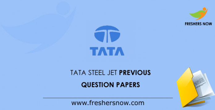 TATA Steel JET Previous Question Papers
