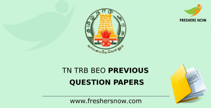 TN TRB BEO Previous Question Papers