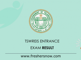 TSWREIS-Entrance-Exam-Result