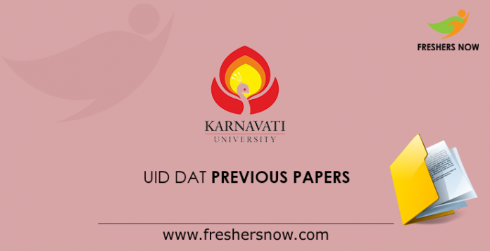 UID DAT Previous Papers