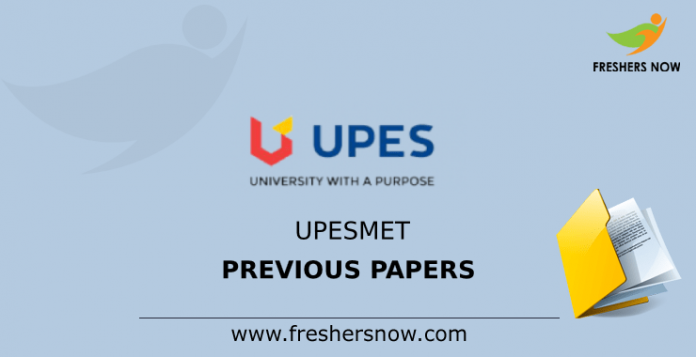 UPESMET Previous Papers