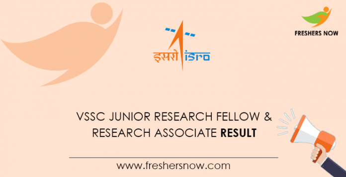 VSSC Junior Research Fellow & Research Associate Result