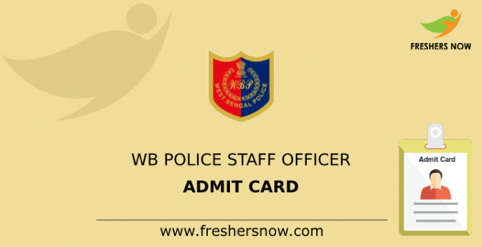 WB Police Officer Admission Card