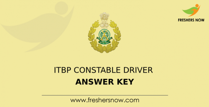 itbp constable driver answer key