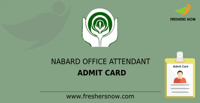 nabard office assistant admit card