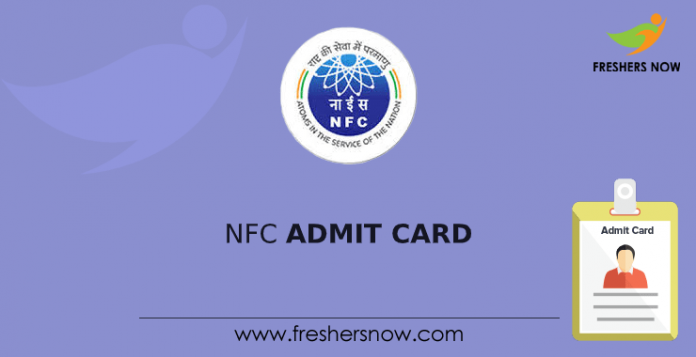 Nfc admission card