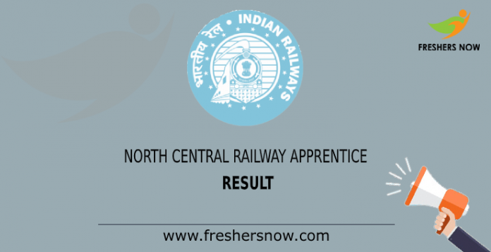 north central railway apperentice Result