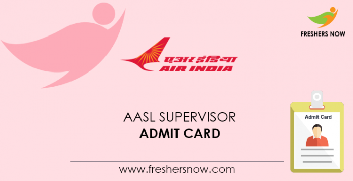 AASL Supervisor Admission Card