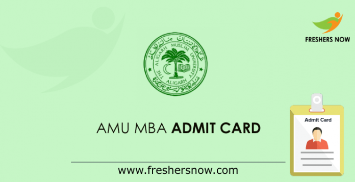 AMU MBA Admit Card