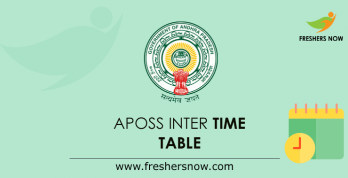 APOSS Inter Time Table