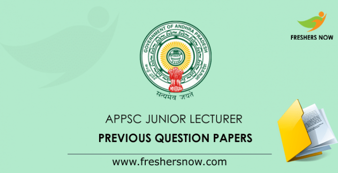 APPSC Junior Lecturer Previous Question Papers