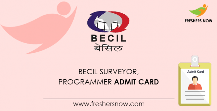 BECIL Surveyor, Programmer Admit Card