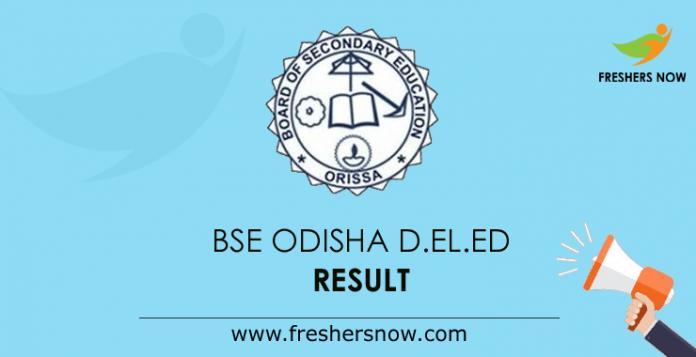 BSE Odisha D.El.Ed Result