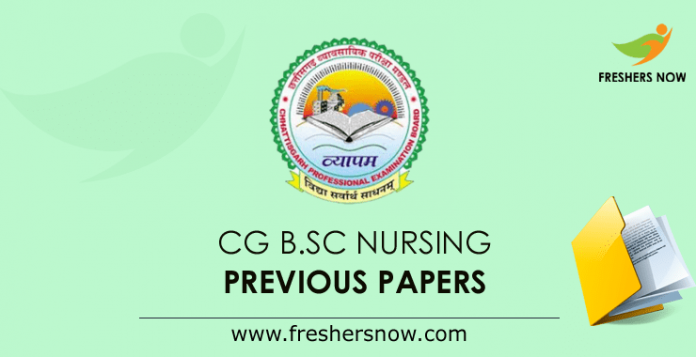 CG B.Sc Nursing Previous Question Papers