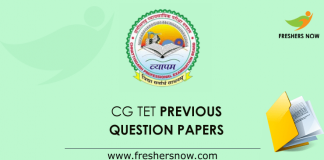 CG TET Previous Question Papers