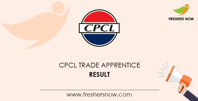 CPCL Trade Apprentice Result