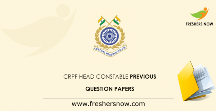 CRPF Head Constable Previous Question Papers