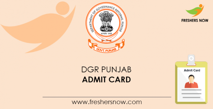 DGR Punjab Admit Card