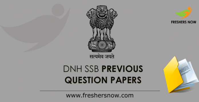 DNH SSB Previous Question Papers
