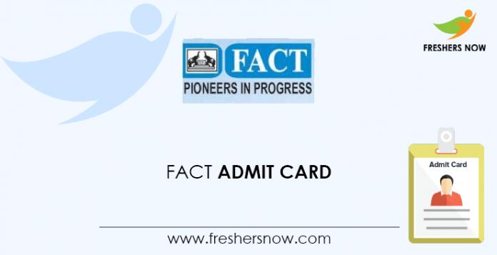 FACT Admit Card