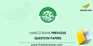 HARCO Bank Previous Question Papers