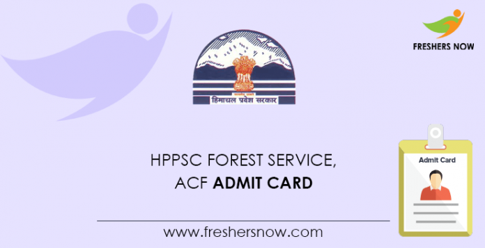 HPPSC Forest Service, ACF Admit Card