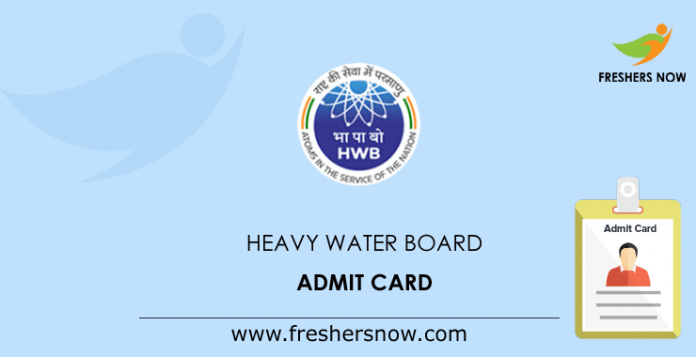 Heavy Water Board Admit Card