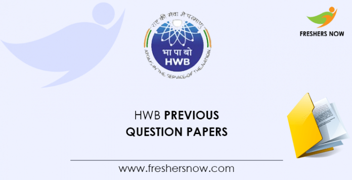 HWB Previous Question Papers