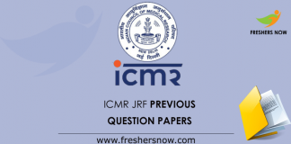 ICMR JRF Previous Question Papers