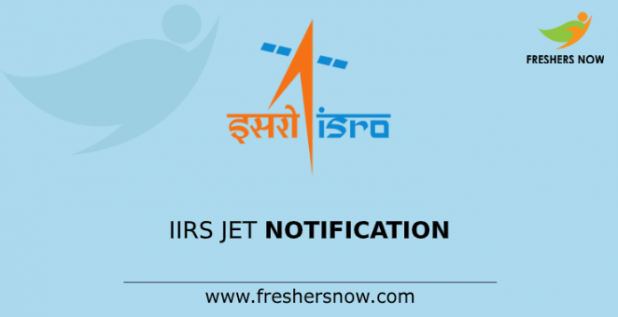 IIRS JET Notification
