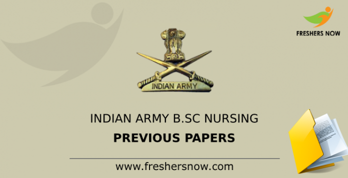 Indian Army B.Sc Nursing Previous Question Papers