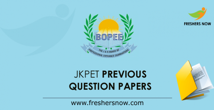 JKPET Previous Question Papers