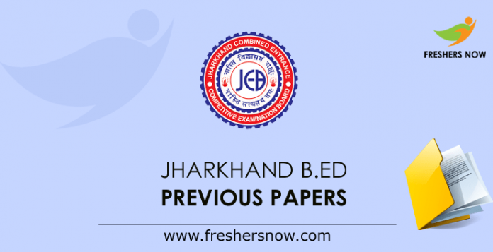 Jharkhand B.Ed Previous Papers