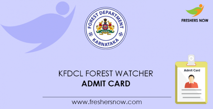 KFDCL Forest Watcher Admit Card