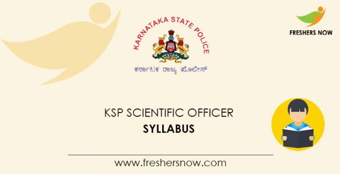 KSP Scientific Officer Syllabus 2020