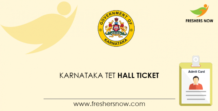 Karnataka TET Hall Ticket