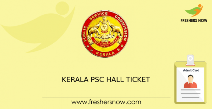 Kerala-PSC-Hall-Ticket