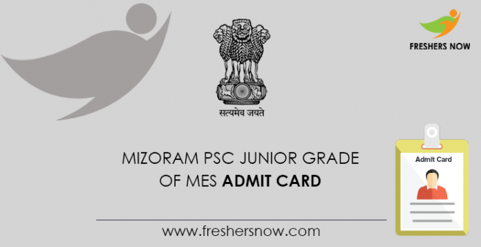 Mizoram PSC MES Lower Grade Admission Card
