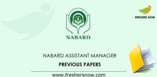 NABARD Assistant Manager Previous Question Papers