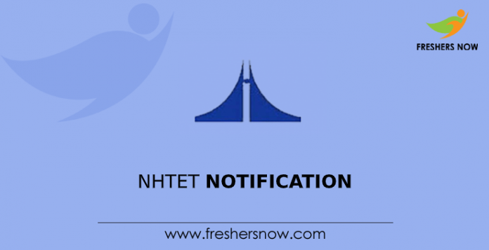NHTET Notification