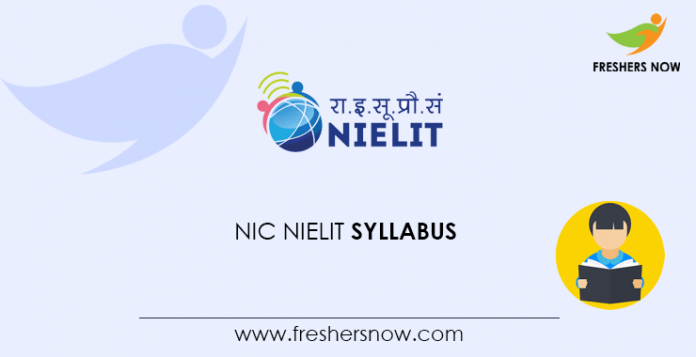 NIC NIELIT Scientist Syllabus 2020