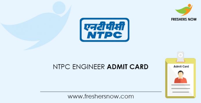 NTPC Engineer Admit Card